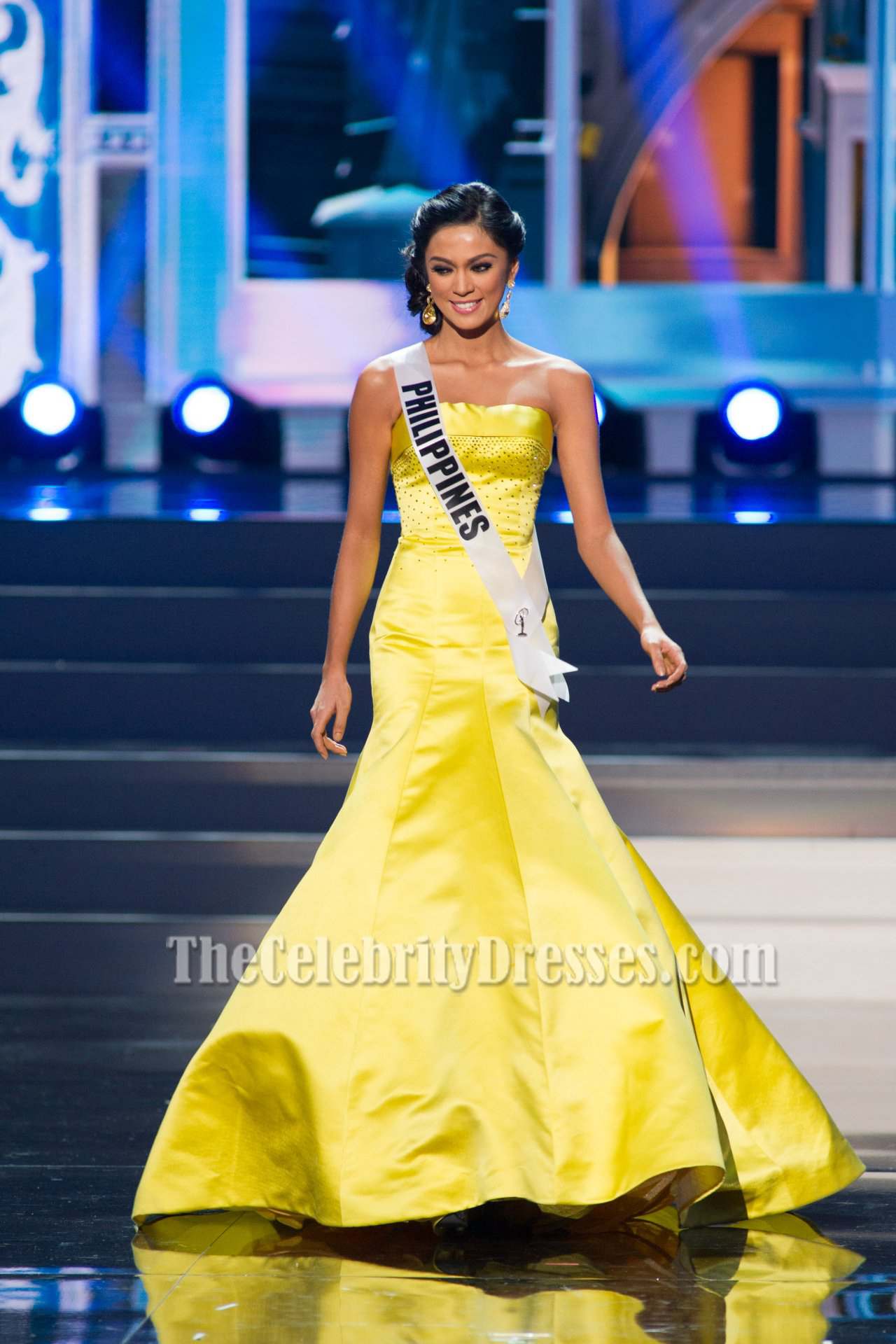 Ariella Arida Yellow Pageant Formal Dresses 2013 Miss Universe ...