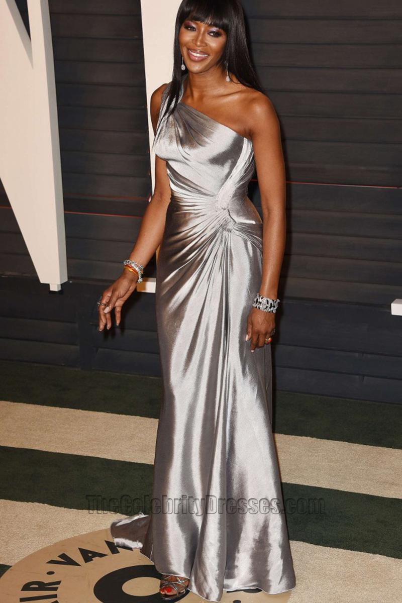 Naomi Campbell 2016 Vanity Fair Oscar Party Silver One