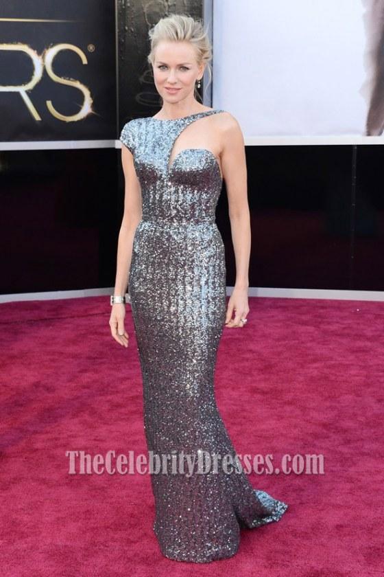 Naomi Watts Silver Sequins Formal Dress 2
