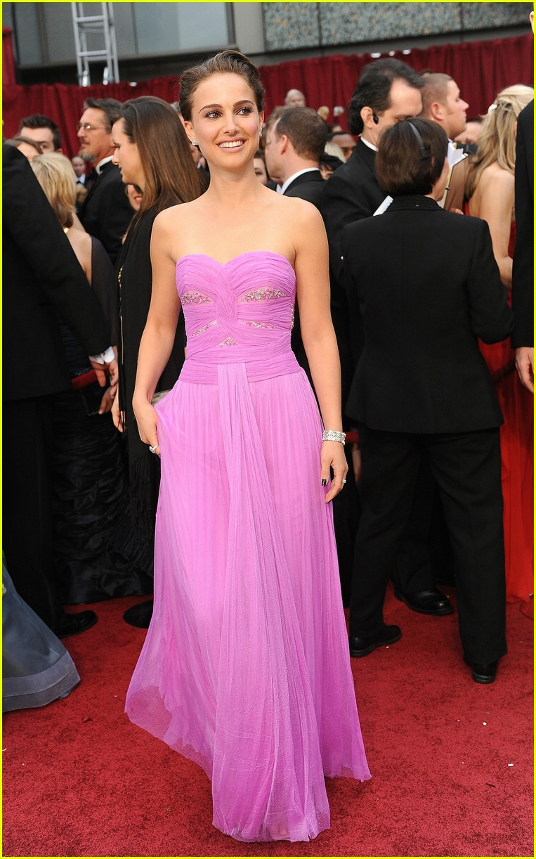 Natalie Portman Pink Red Carpet/ Formal Dress 2009 Oscars ...