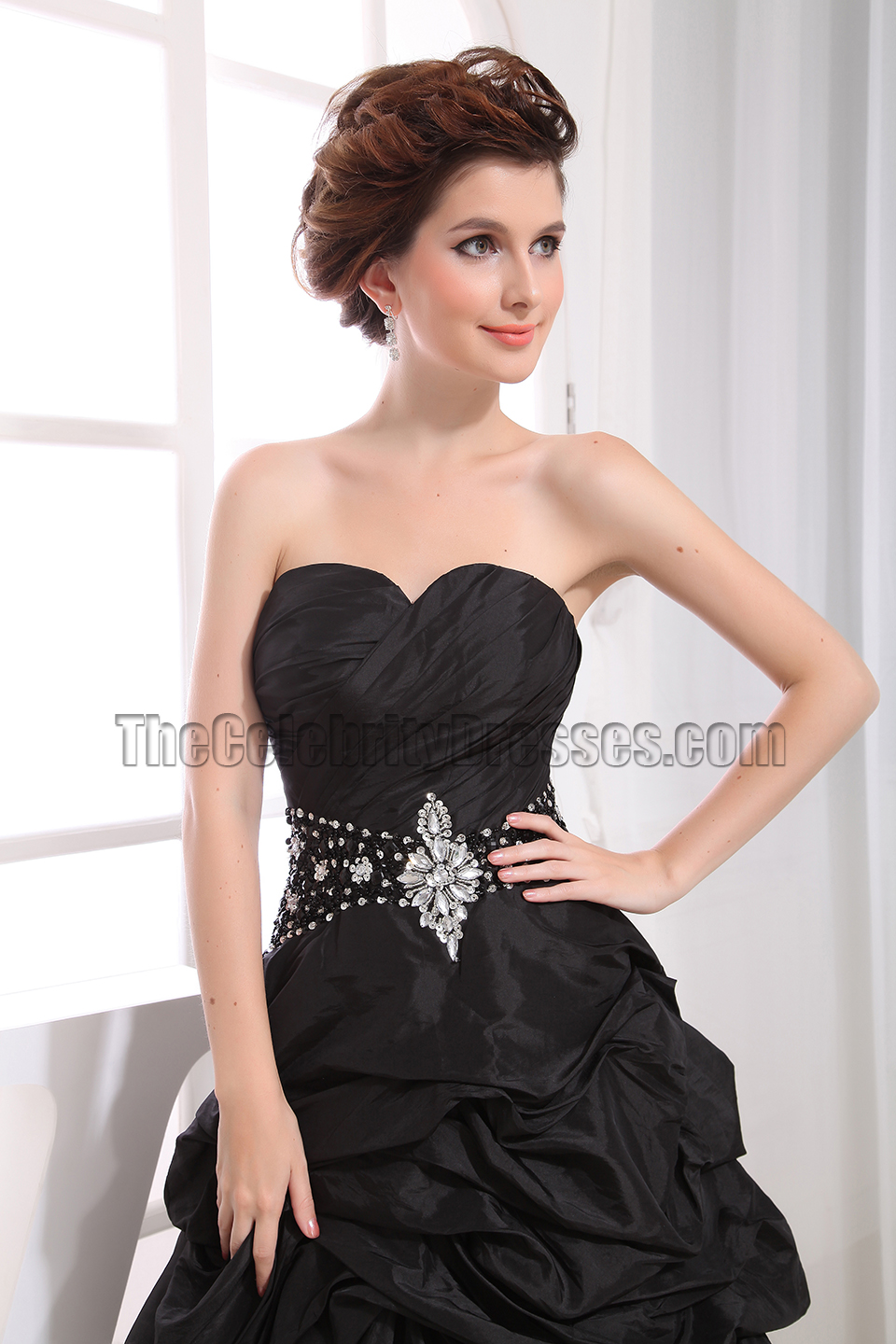 Black Strapless High Low Prom Dress Evening Party Dresses ...