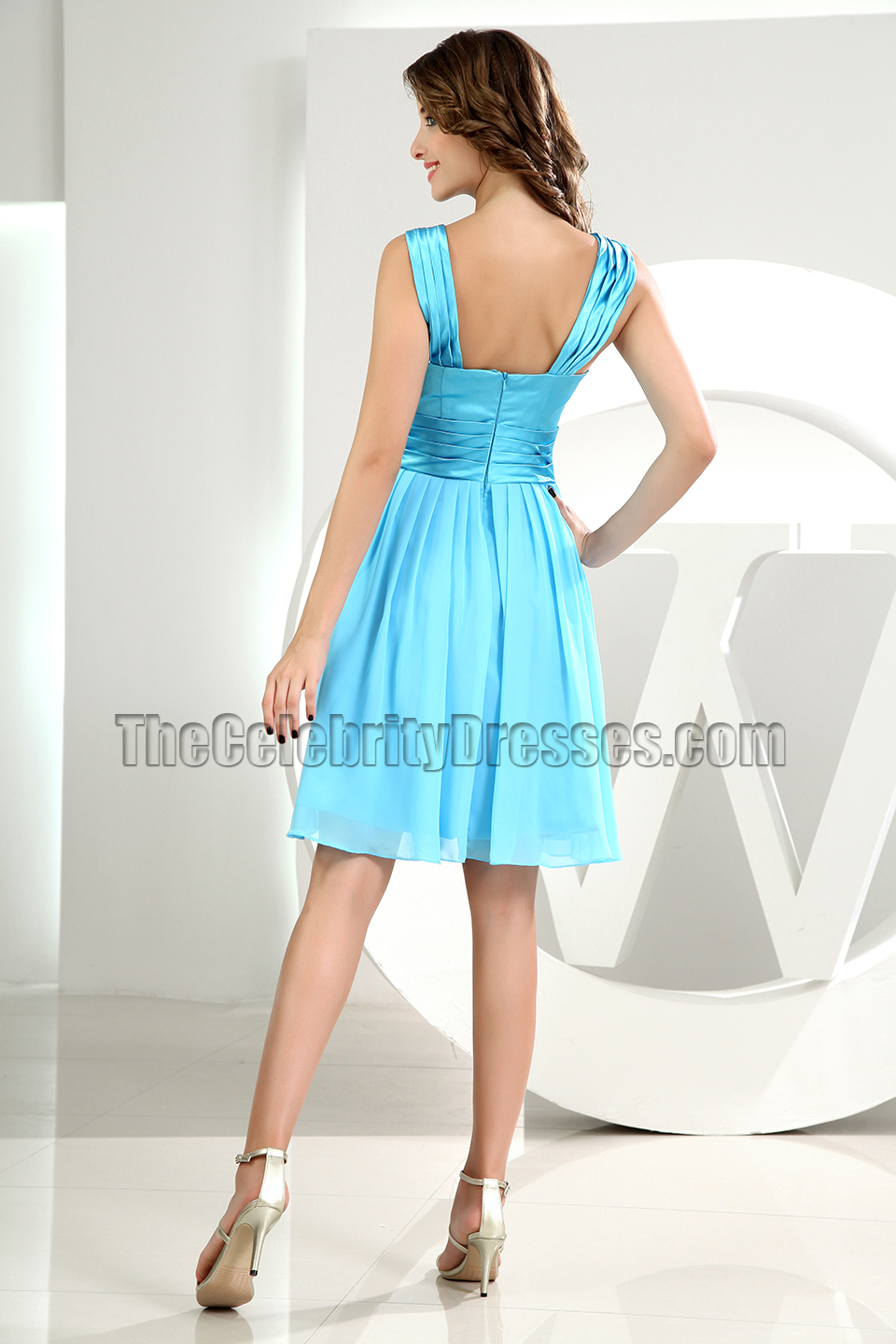 Discount Blue Short Party Graduation Homecoming Dresses ...