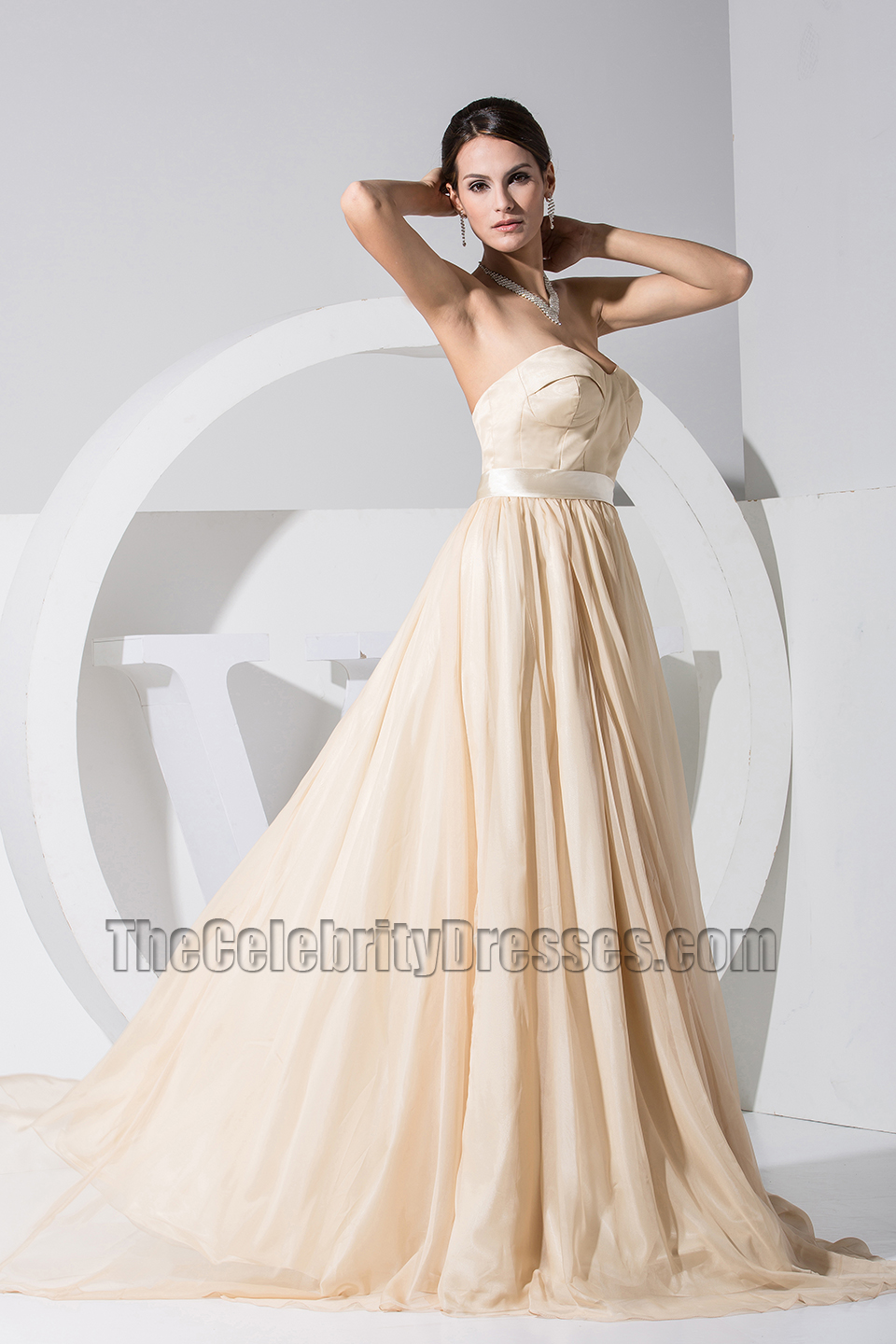 New Style Champagne Sweetheart Formal Dress Prom Evening Dresses ...