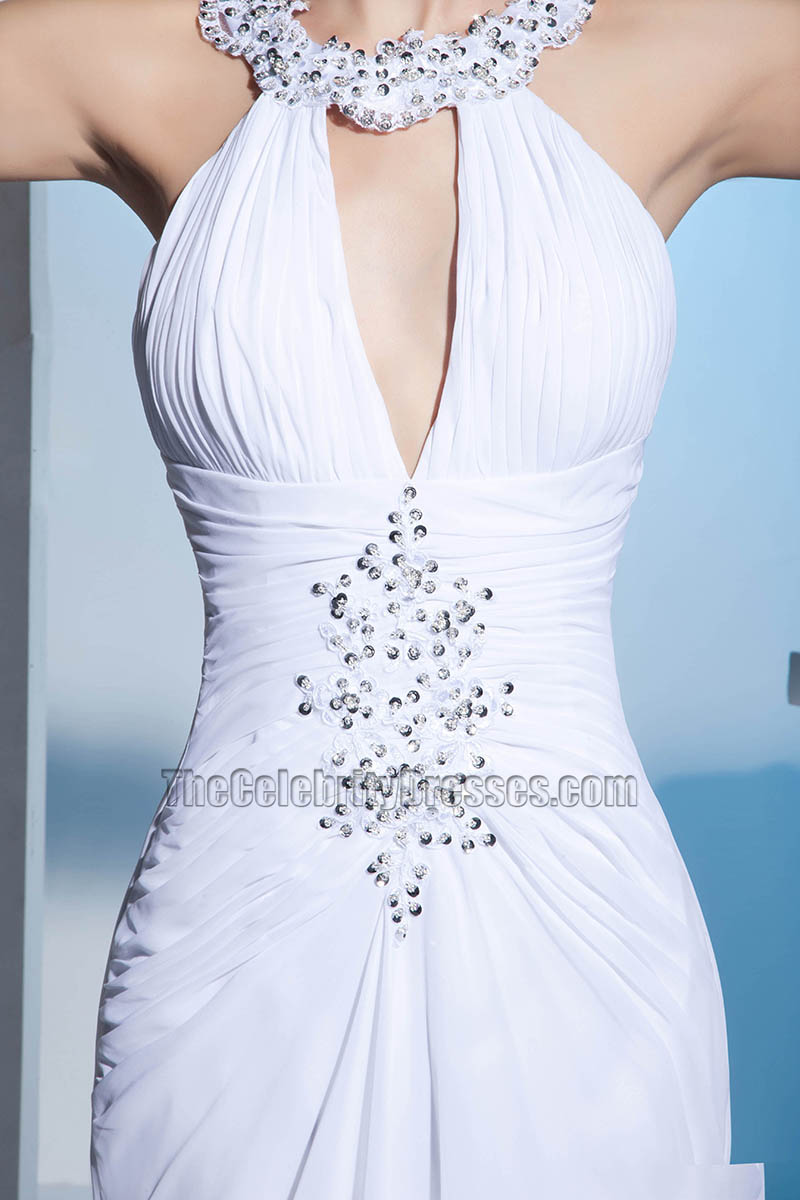 New Style Wedding Dress: New Style Chiffon Chapel Train Wedding Dress With Beadwork