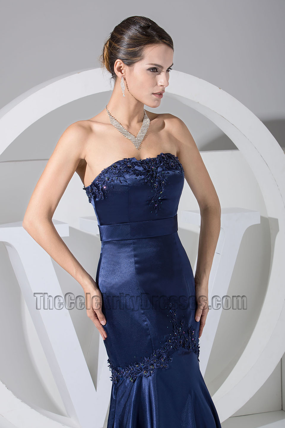 New style dark navy embroidery mermaid formal dress bridesmaid new style dark navy embroidery mermaid formal dress bridesmaid dresses thecelebritydresses ombrellifo Images