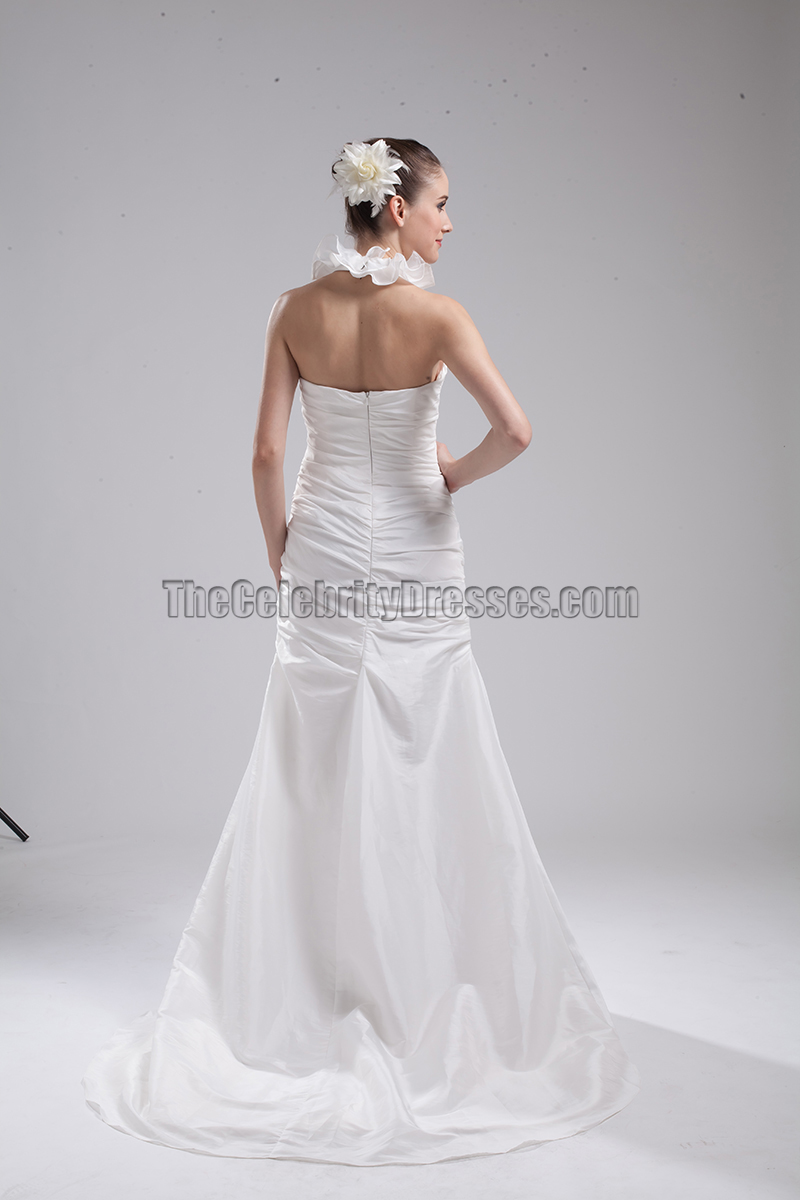 New style halter trumpet mermaid wedding dresses thecelebritydresses for Mermaid halter wedding dresses