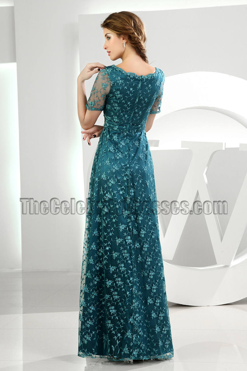 Elegant Green Lace Formal Dress Evening Dresses
