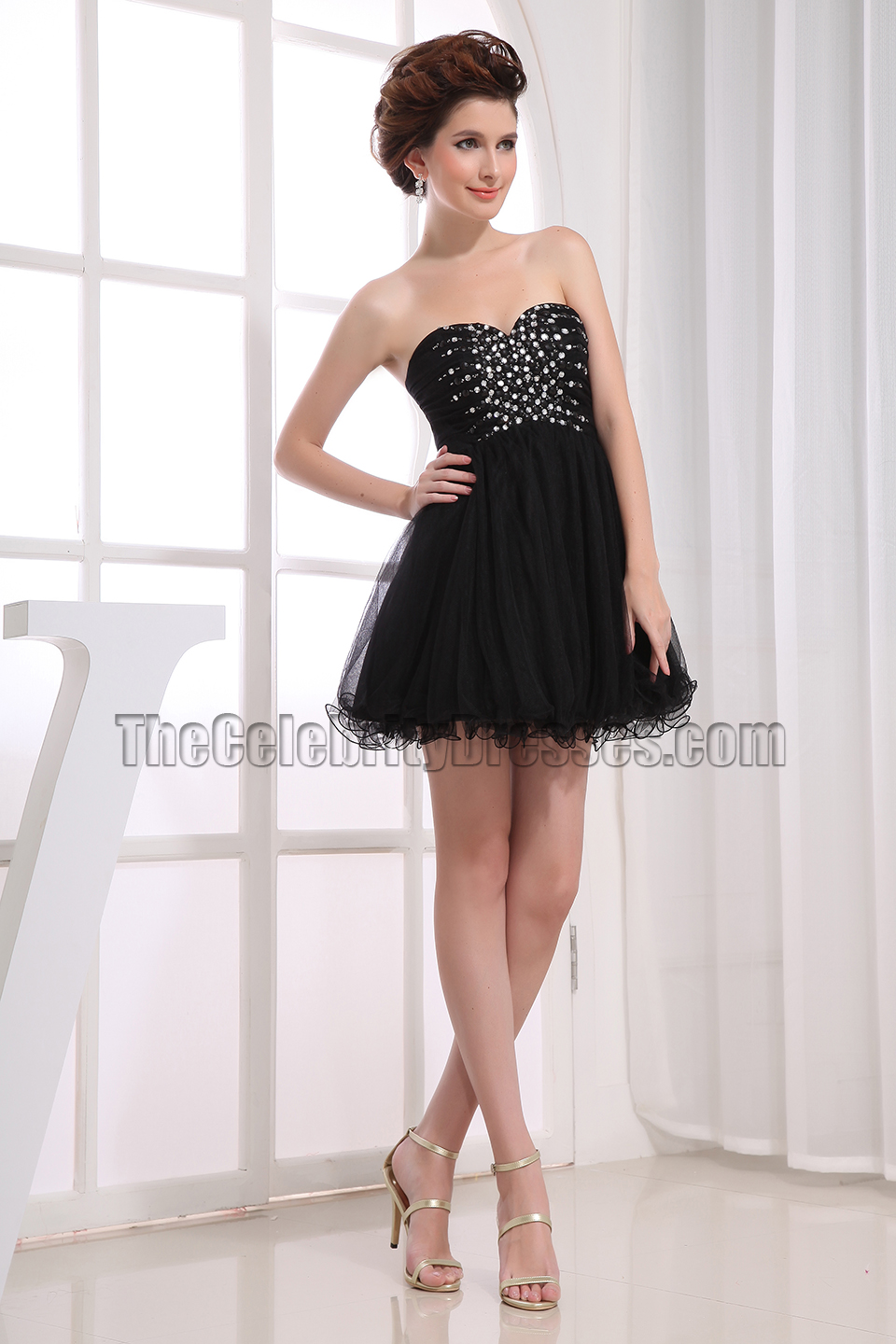 Black dress mini - New Style Cute Beaded Little Black Dress Mini Party Dresses Thecelebritydresses