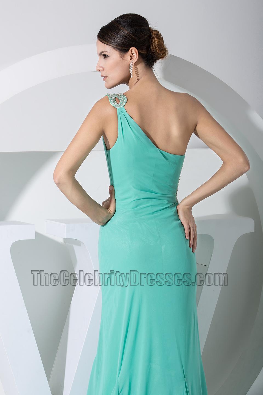 Mint One Shoulder Cut Out Prom Dress Evening Dresses ...