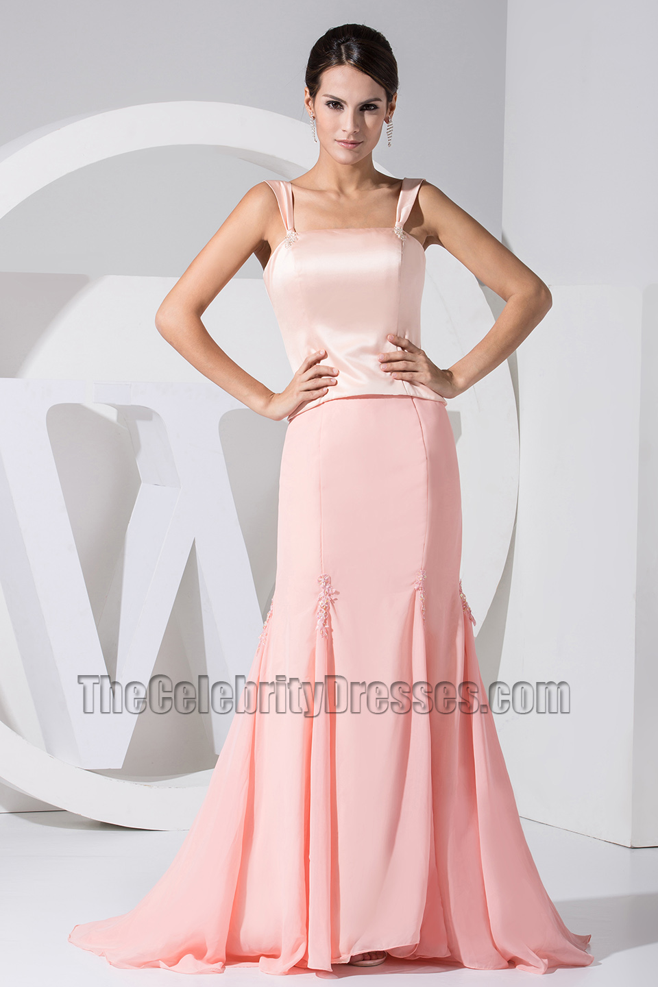 Celebrity Inspired Pink Mermaid Prom Dress Formal Evening Dresses ...