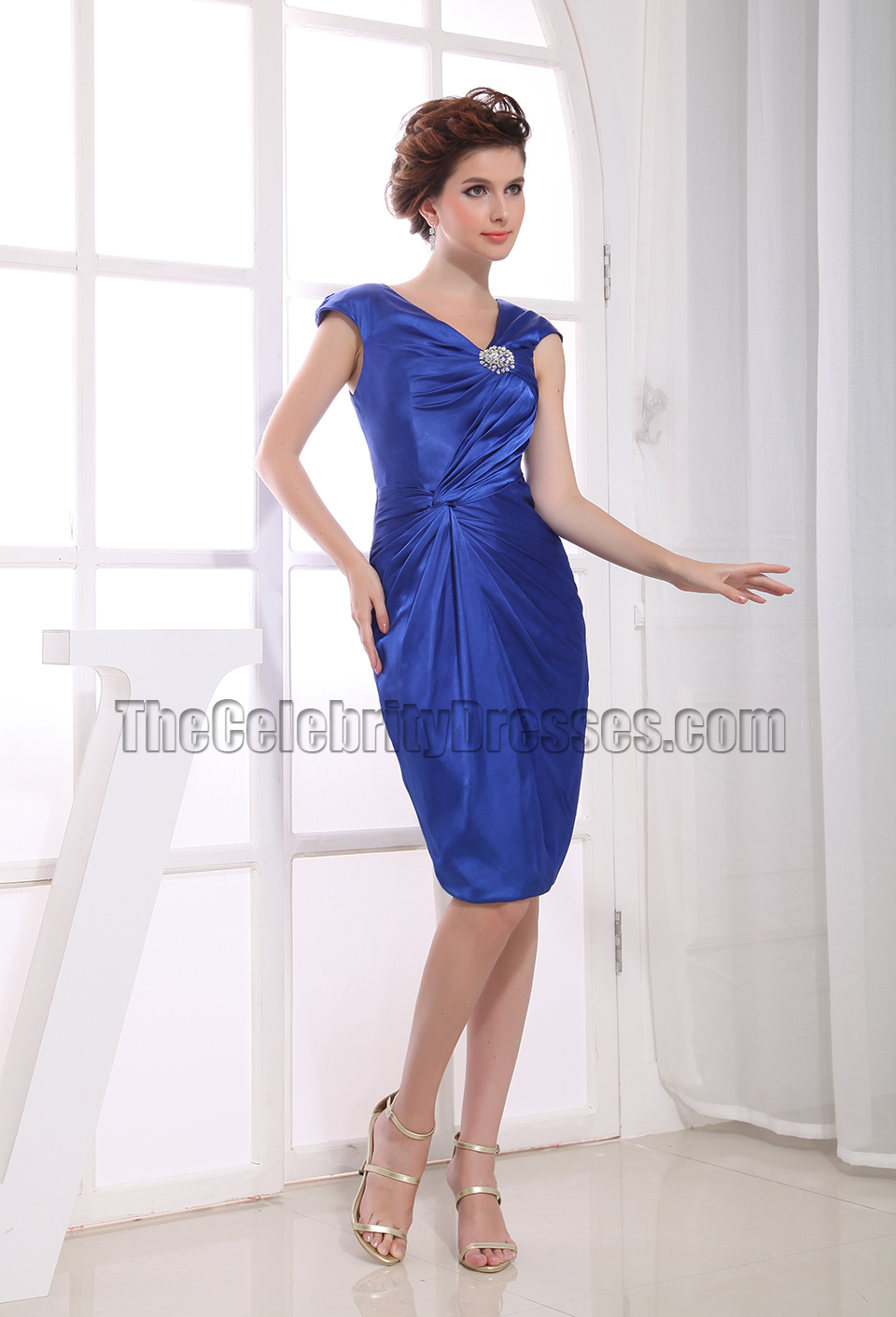 Knee Length Royal Blue Cocktail Dress Party Dresses ...