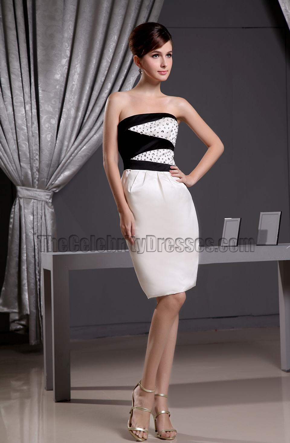 New Style Sheath Short Strapless Cocktail Dress Party Dresses ...