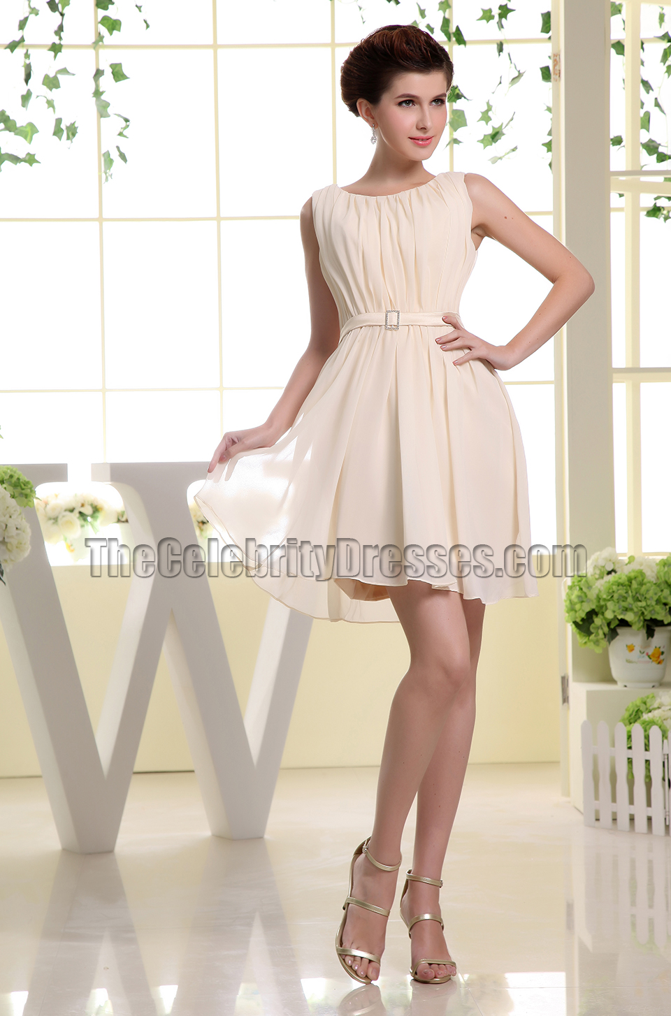 Sleeveless Short Chiffon Homecoming Dress Party Dresses