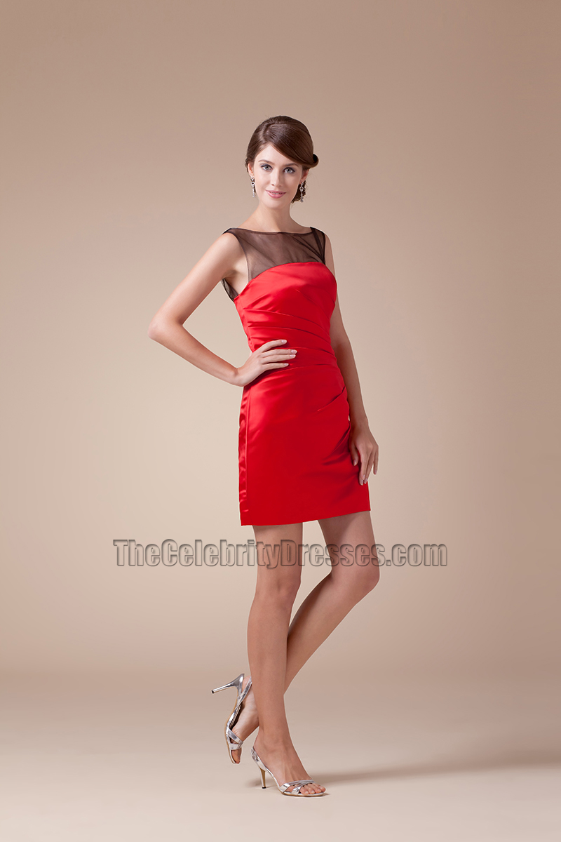 New Style Short Mini Red And Black Party Homecoming ...