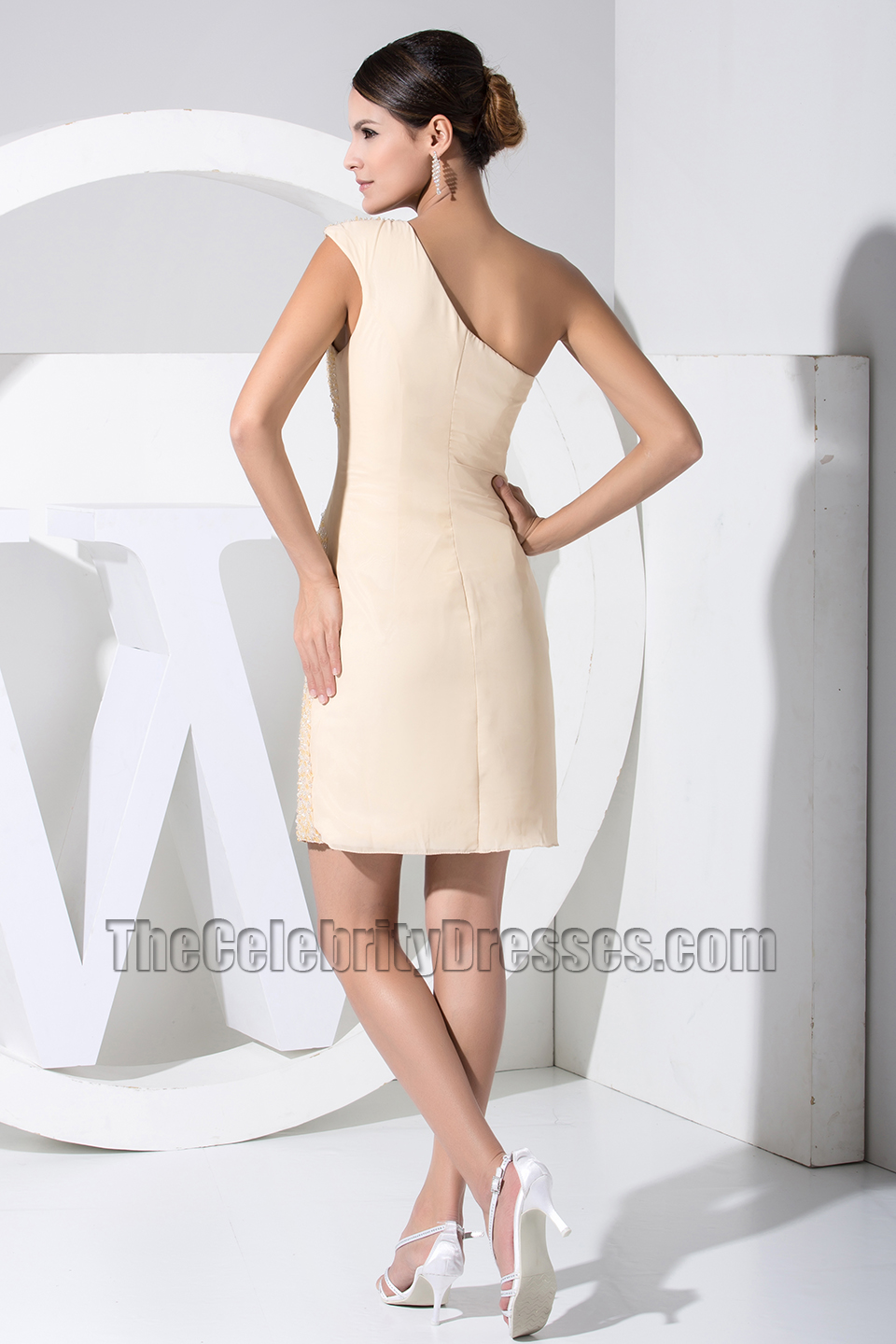New Style Short One Shoulder Party Dress Cocktail Dresses With ...