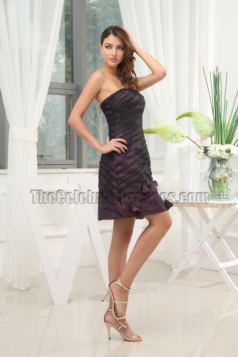 new style short strapless cocktail graduation party