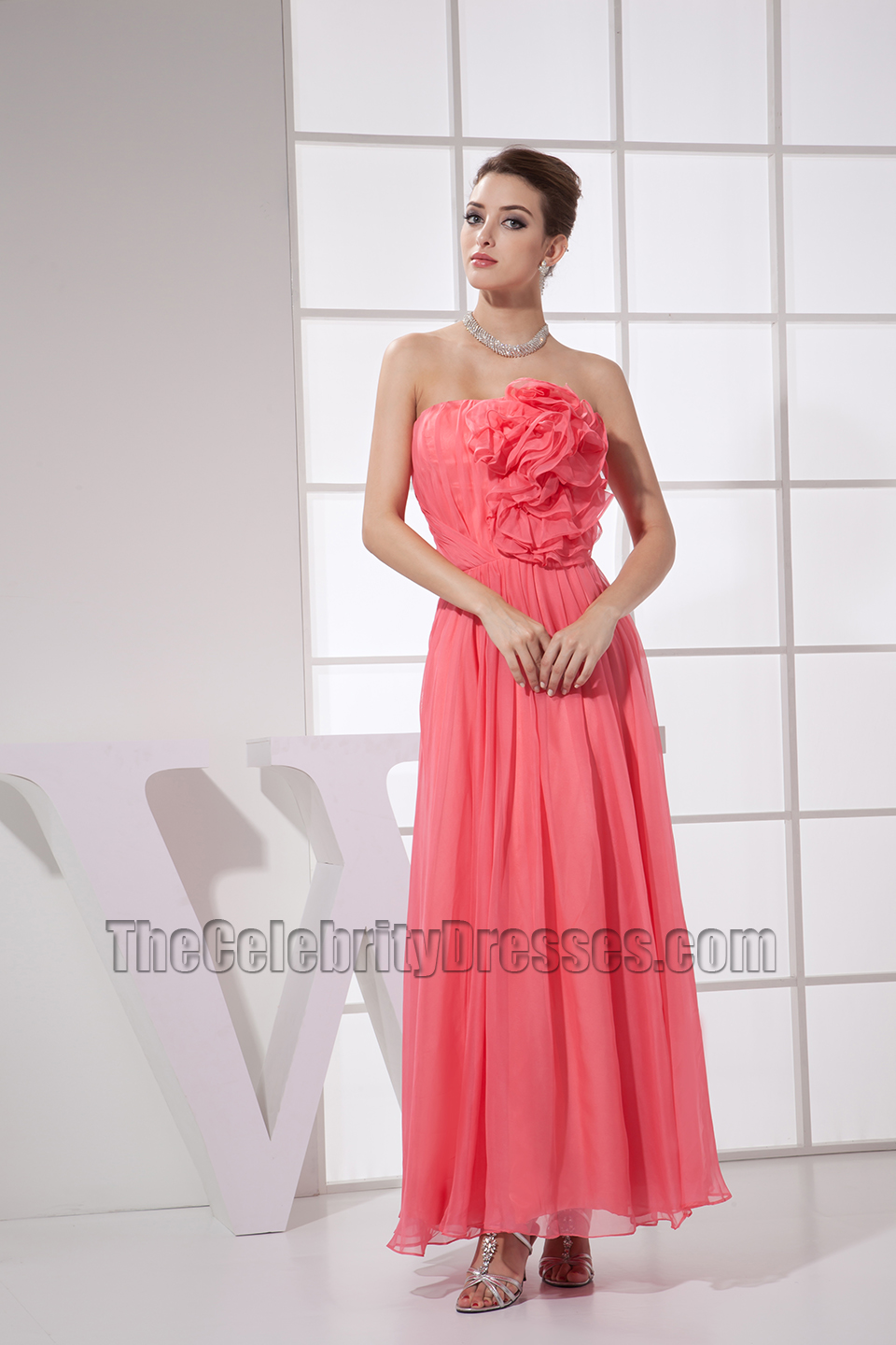 New style water melon strapless prom gown party dress new style water melon strapless prom gown party dress thecelebritydresses ombrellifo Image collections