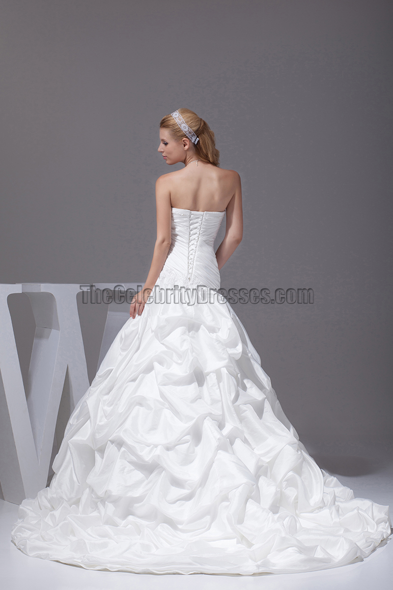New Style Strapless Taffeta Ball Gown Wedding Dresses Thecelebritydresses