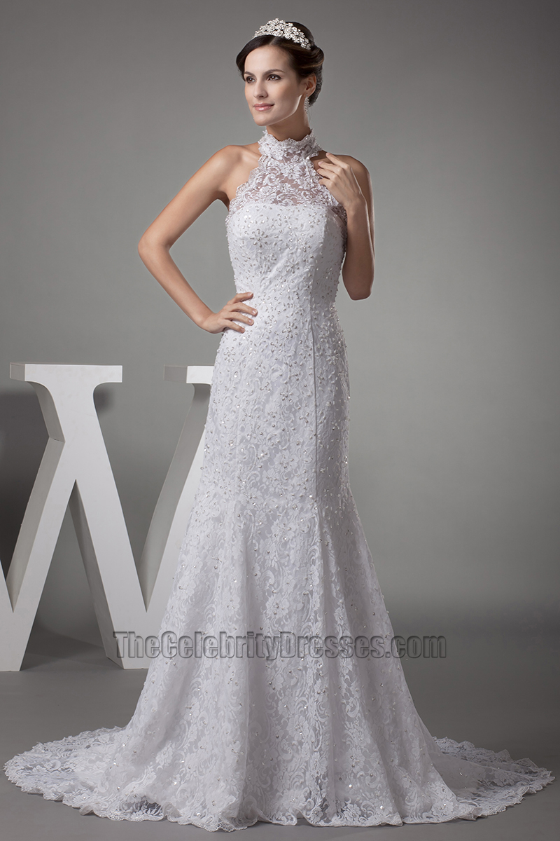 Halter Lace Wedding Dresses