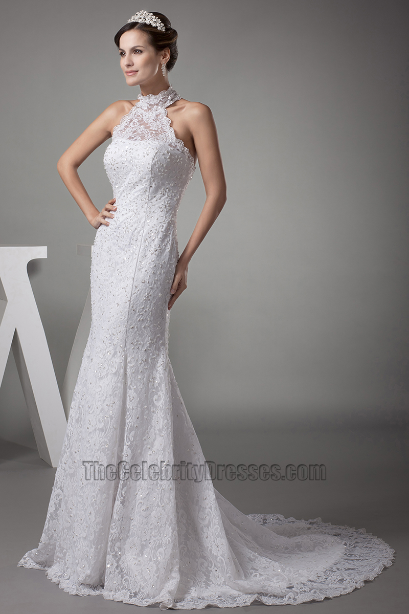 mermaid trumpet wedding dress trumpet mermaid halter lace wedding dresses 5838