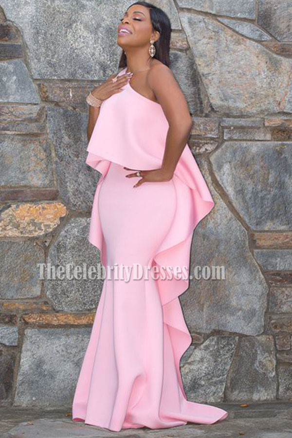 Niecy Nash Pink One Shoulder Evening Prom Gown 21st Annual Critics ...