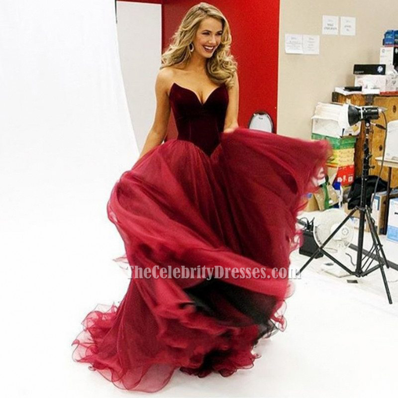 Olivia Jordan Burgundy Evening Gown Miss USA 2015 Pageant Dress ...