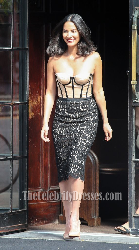 Olivia Munn Strapless Cocktail Dress Late Show With David