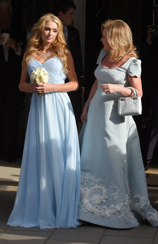 Paris Hilton Sky Blue Evening Bridesmaid Dress on Nicky\'s wedding ...