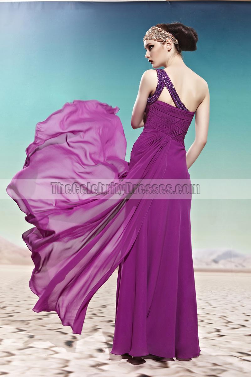 Lujoso Purple One Shoulder Prom Dress Inspiración - Ideas de Vestido ...