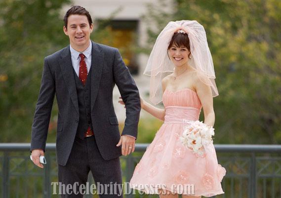 Rachel Mcadams Short Pink Wedding Dress In Movie The Vow Dresses