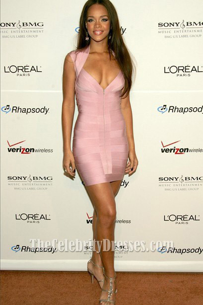 Rihanna Short Bandage Dress Party Celebrity Dresses ...