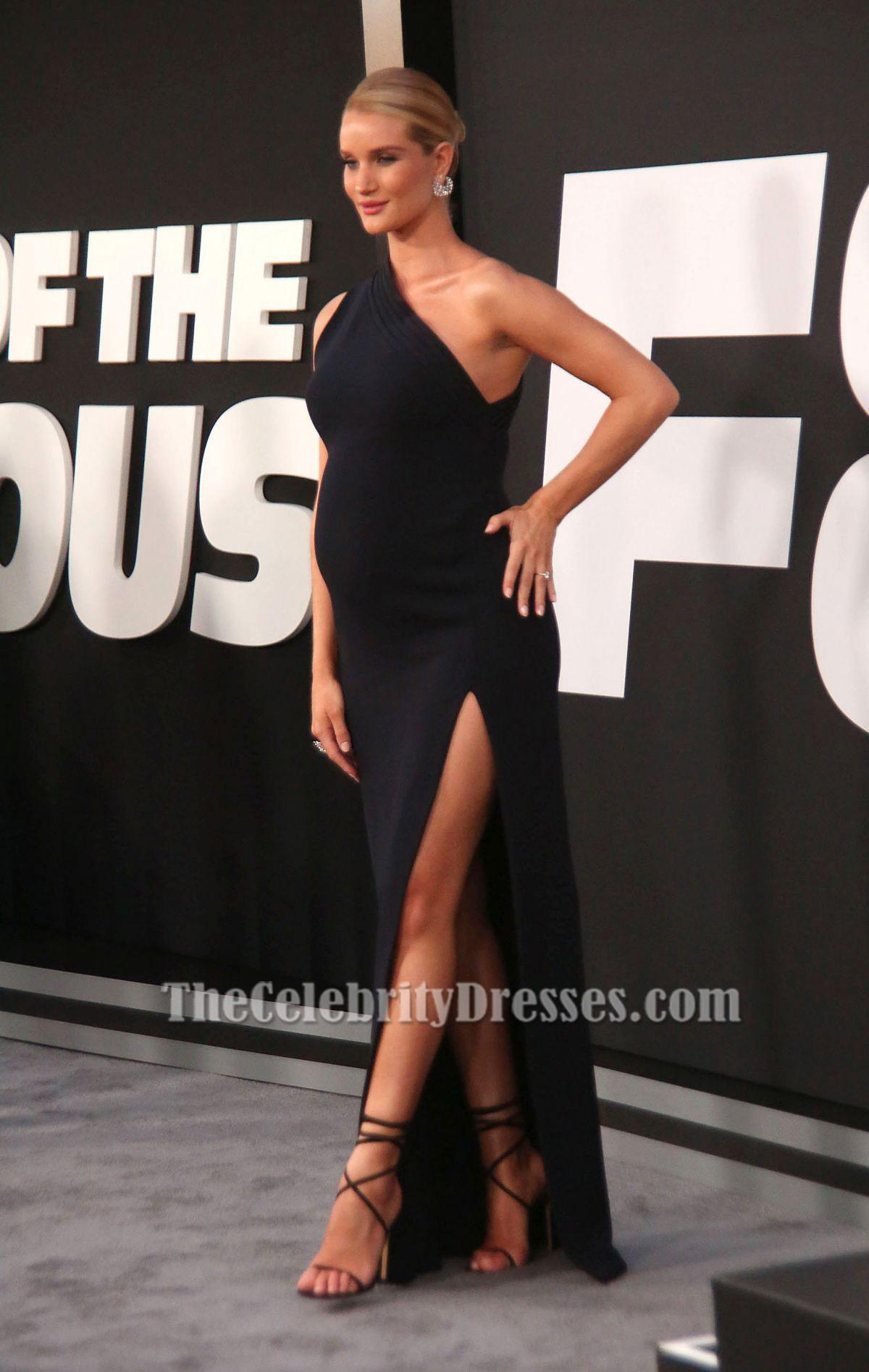 Rosie Huntington-Whiteley Ein Schulter-Abendkleid \