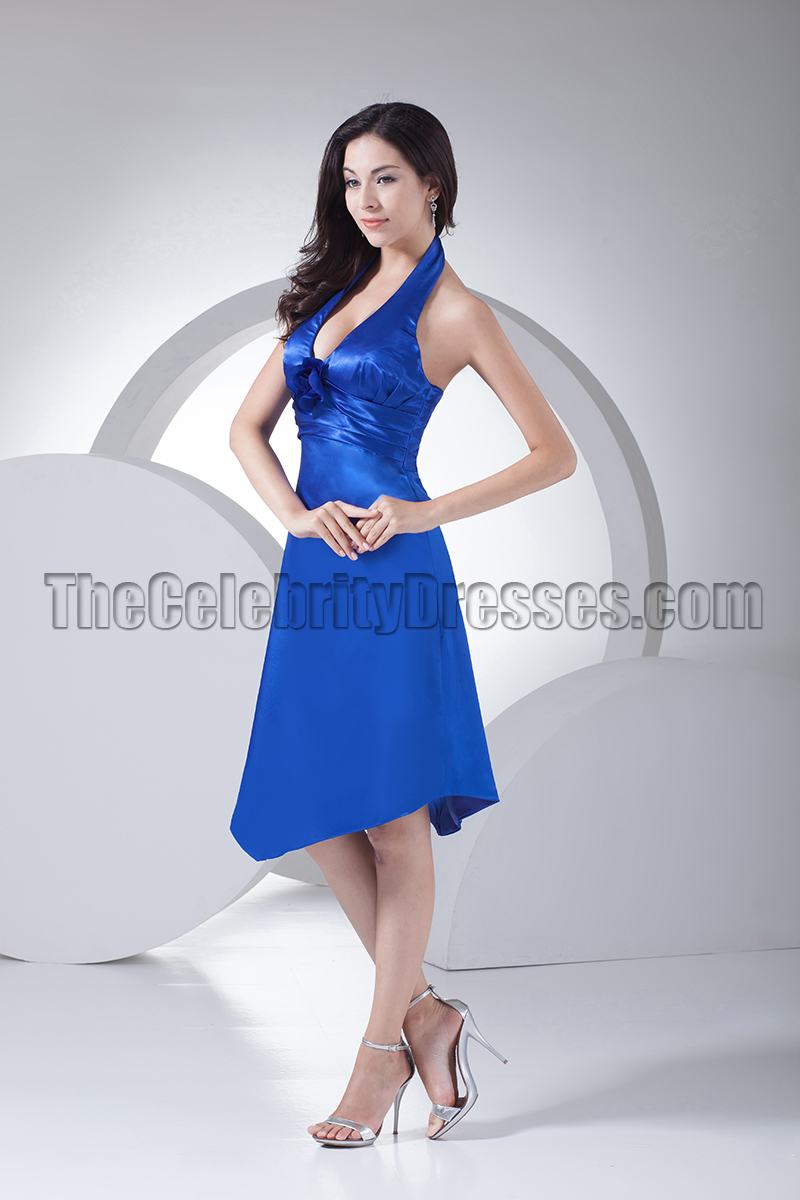 Discount royal blue halter cocktail bridesmaid dresses discount royal blue halter cocktail bridesmaid dresses thecelebritydresses ombrellifo Images
