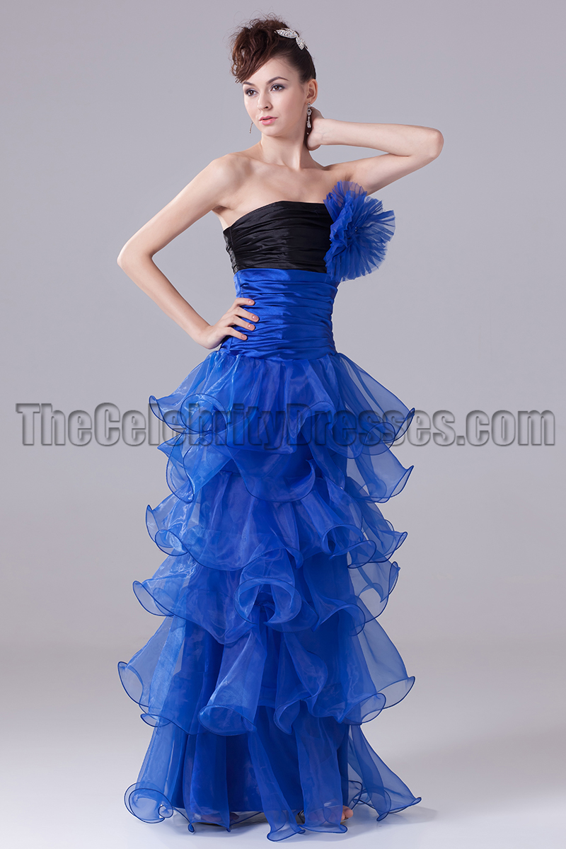 2019 year look- Blue strapless prom dresses