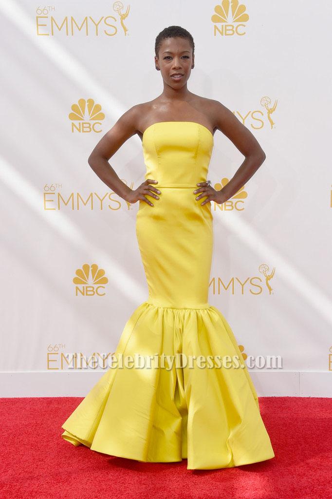 Samira Wiley Yellow Mermaid Formal Dress 66th Annual Emmy Awards ...