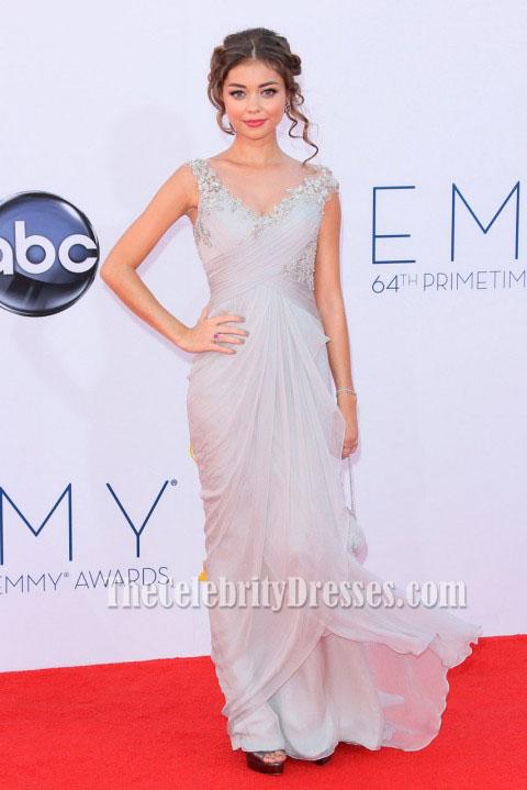 Sarah hyland prom dress 2012 emmys awards red carpet thecelebritydresses - Silver red carpet dresses ...