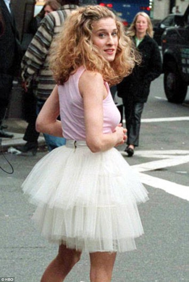 sarah jessica parker tulle mini party dress and the city