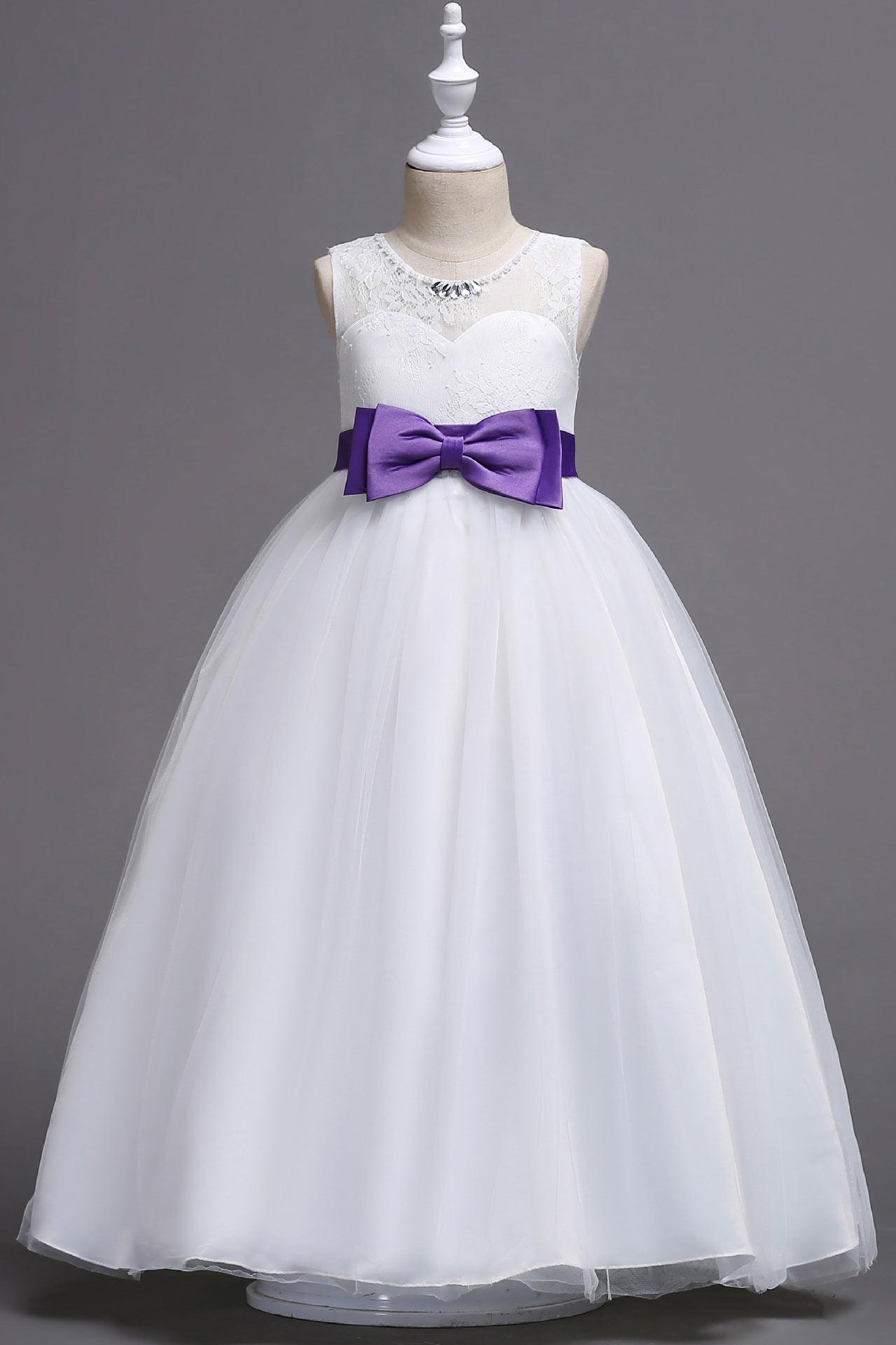 Sleeveless A line Junior Bridesmaid Dress