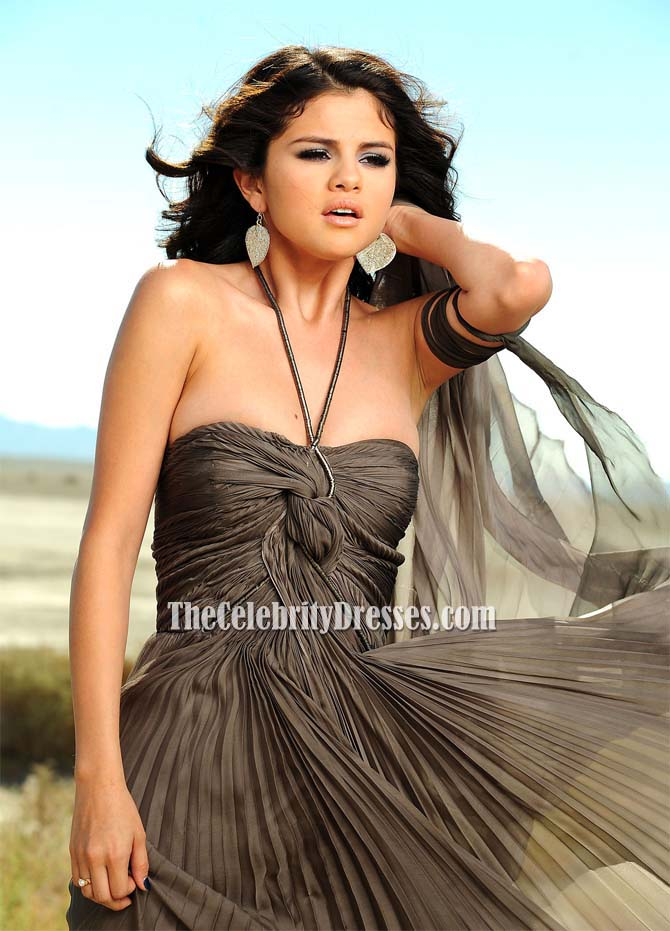 1a0a6ed6710f4 Selena Gomez Stunning Halter Prom Evening Dress from A Year Without Rain -  TheCelebrityDresses