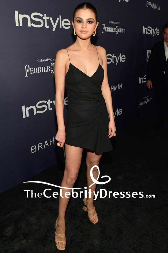 Selena Gomez Sexy Little Black Dress 2017 Instyle Awards