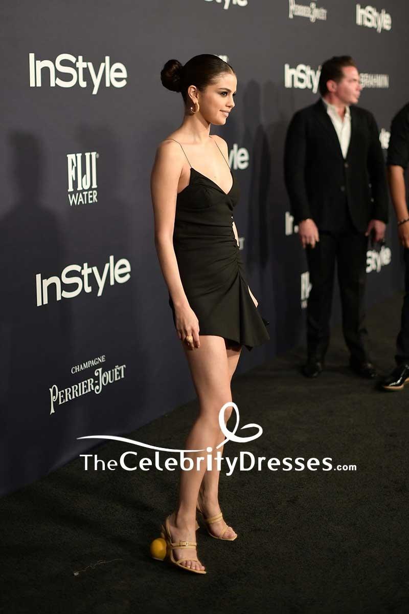 Selena Gomez Sexy Little Black Dress 2017 InStyle Awards ...