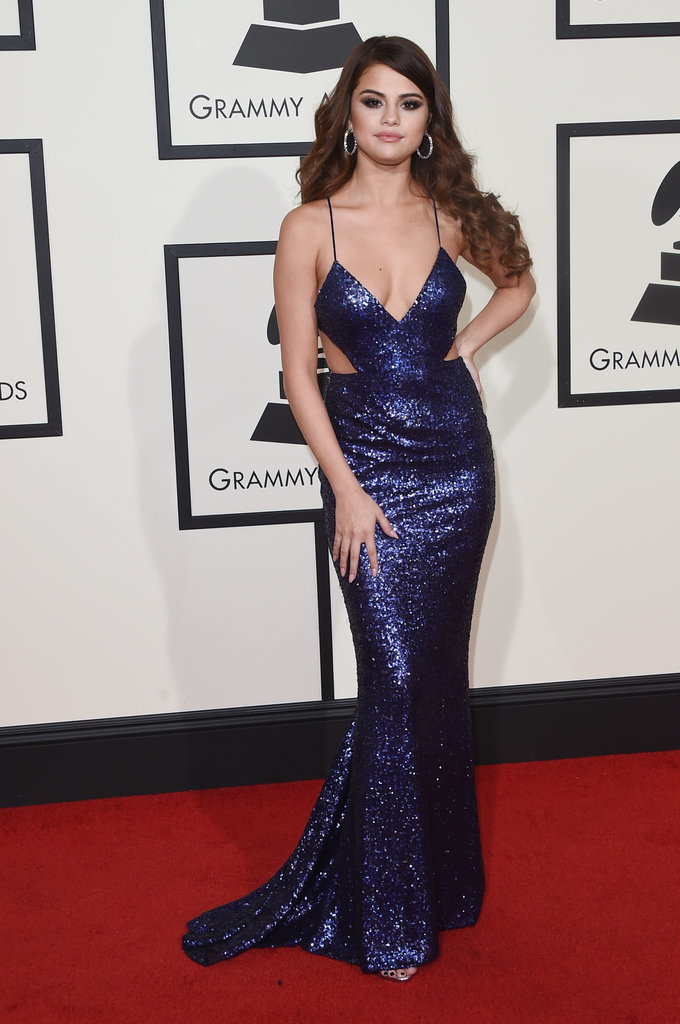 Selena Gomez Grammy 2016 Backless Evening Dress Red Carpet Celebrity Dresses Thecelebritydresses