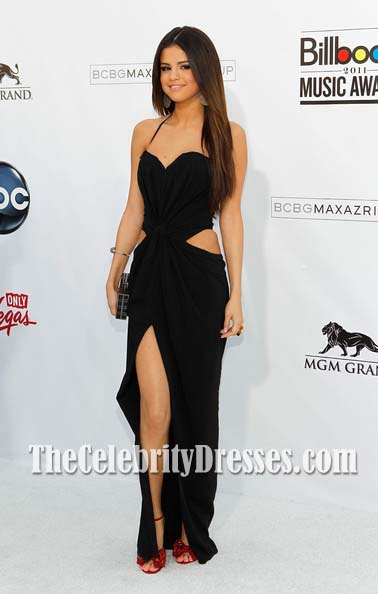 Selena Gomez Black Cut Out Prom Dress 2011 Billboard Music Awards ...