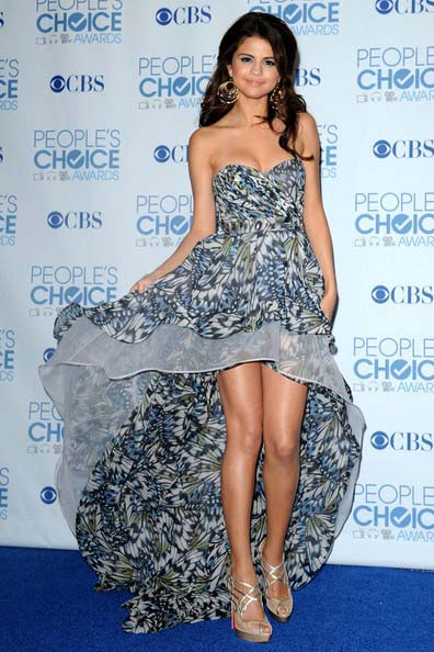 Selena Gomez Strapless Hi-Low Prom Dress 2011 People's ...