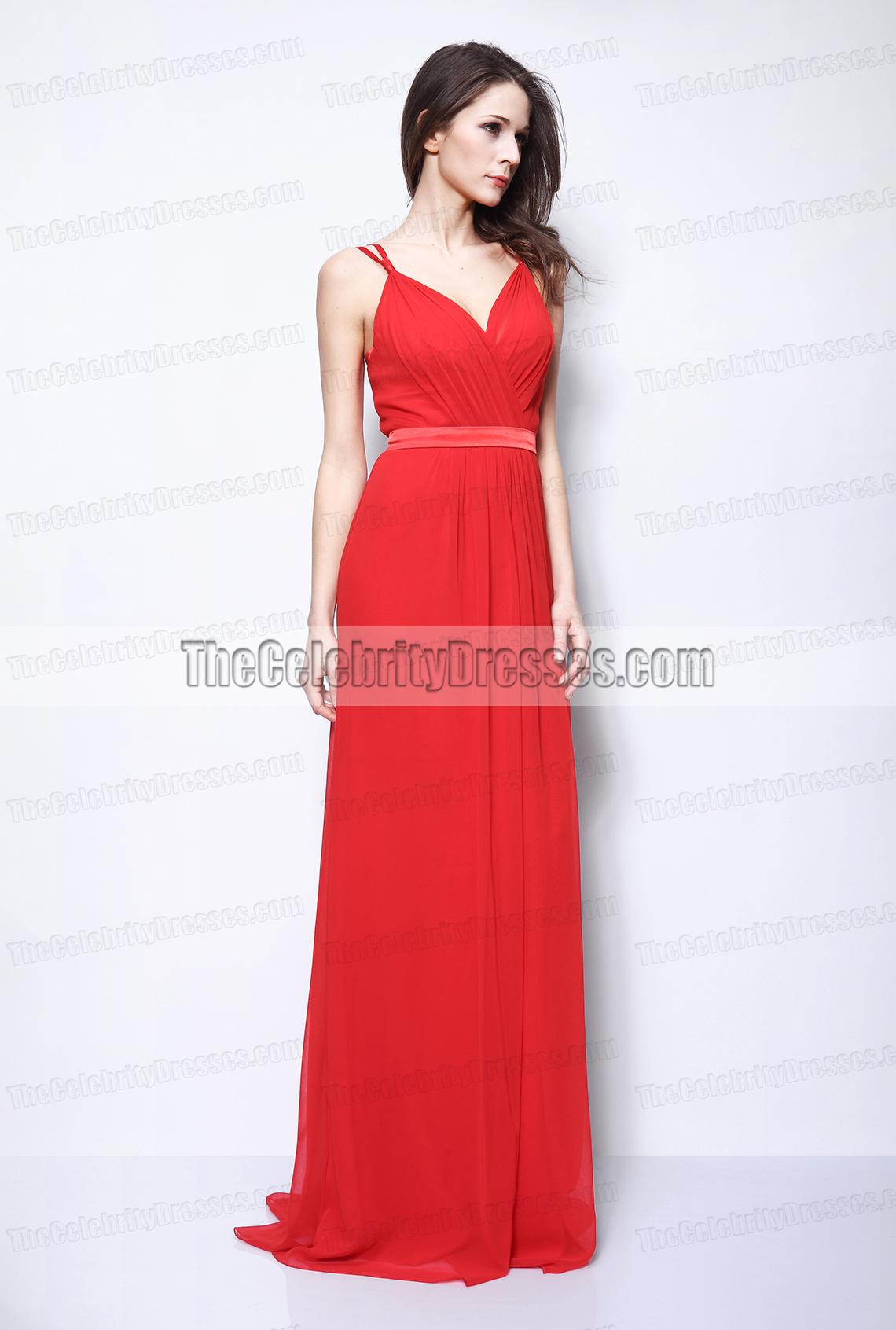 Selena Gomez Red Chiffon Evening Formal Dress 2011 Oscars ...