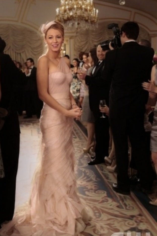 Blake Lively One Shoulder Prom Gown Bridesmaid Dress In Gossip Girl ...