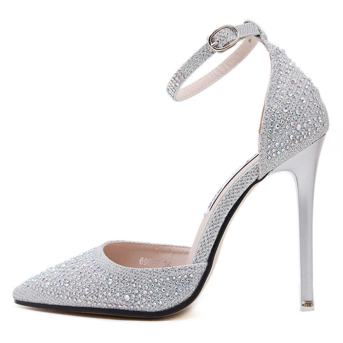 Buy Women Pumps Bling High Heels Shoes, Glitter Prom Shoes Siaoryne Siaoryne