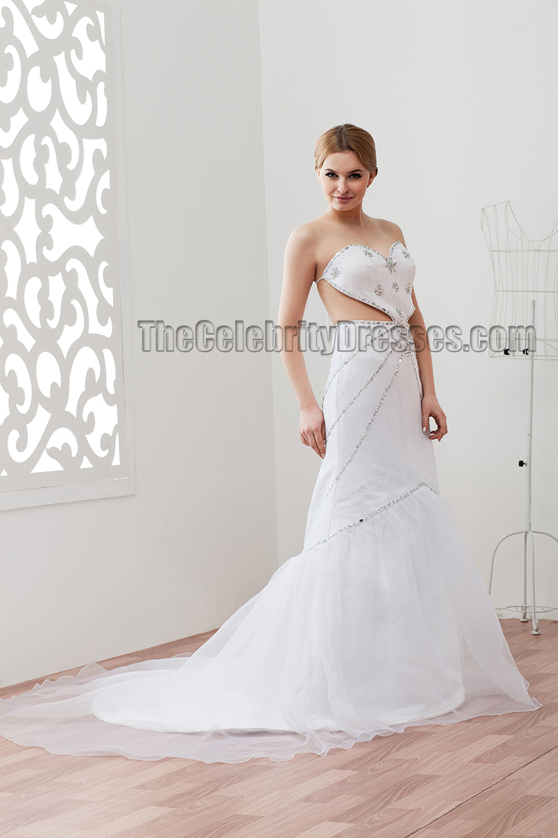 Sexy Backless Strapless Sweetheart Beaded Wedding Dresses ...