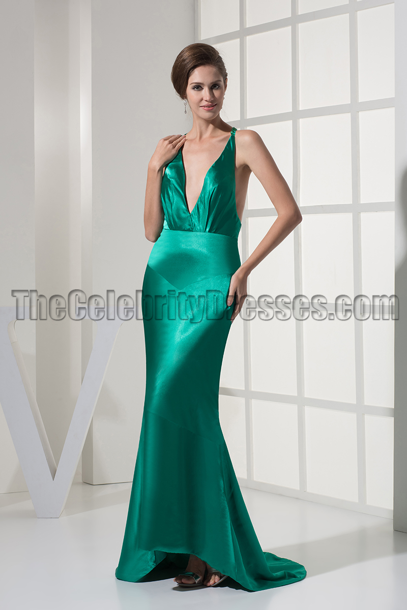 Sexy Deep V-Neck Backless Evening Gown Prom Dresses ...