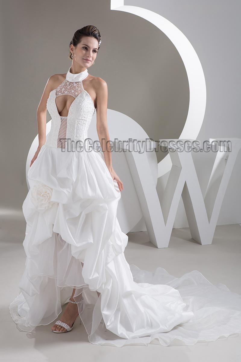 Halter A-Line Wedding Dress